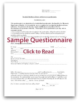 Food Poisoning Questionnaire