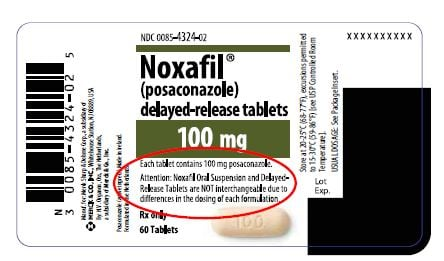 Noxafil Label from FDA