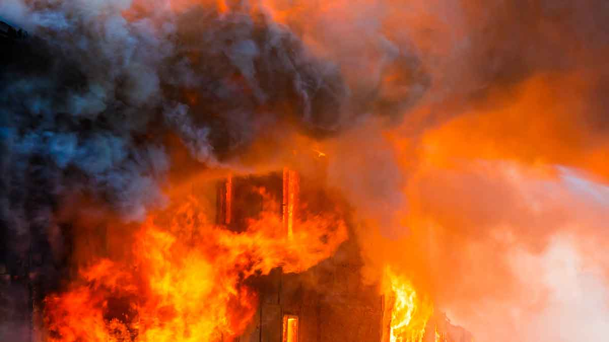 House Explosion Fire