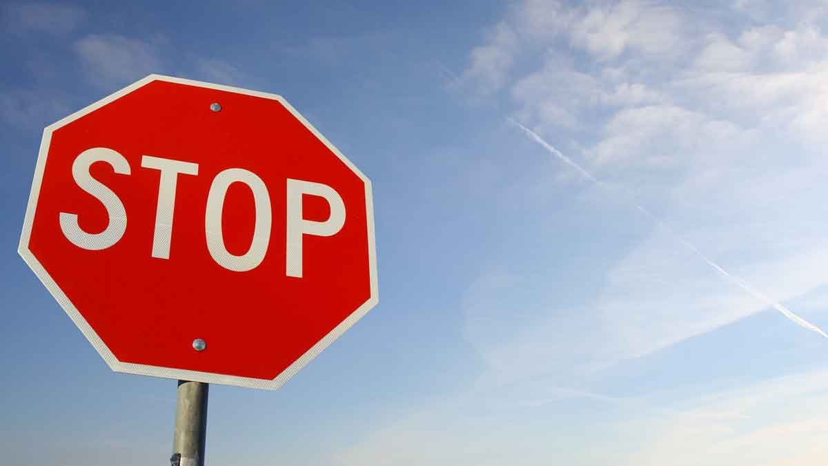 Stop Sign Intersection Collision