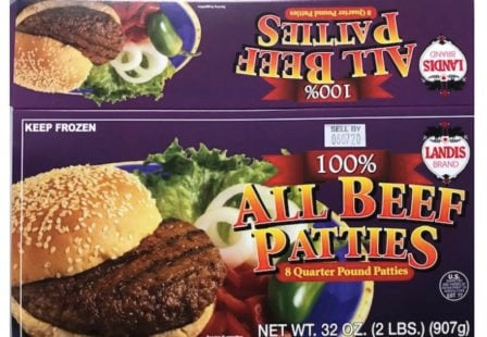 Landis beed patty recall E. coli