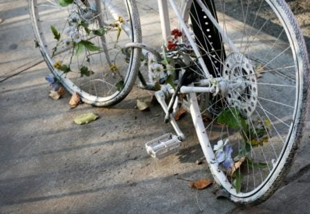 ghost bike honoring killed bicyclists