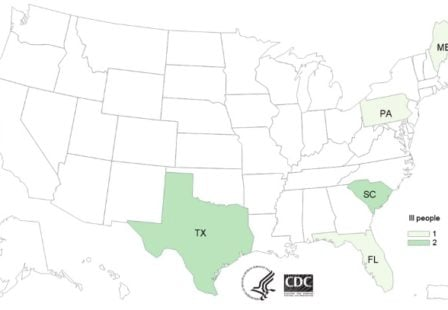 Listeria lawyer- CDC map of hard boiled egg outbreak