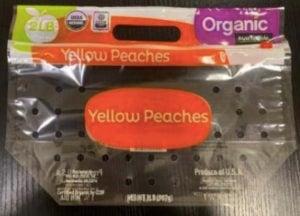 Wawona organic peaches Salmonella recall
