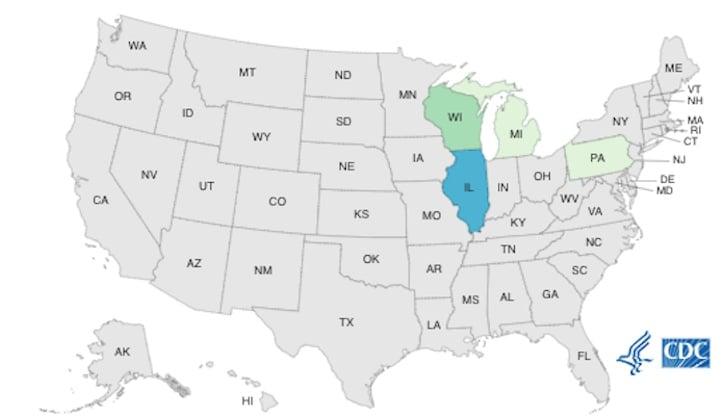 BrightFarms Salad Salmonella CDC outbreak map final